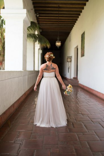Santa Barbara Courthouse Wedding Bride