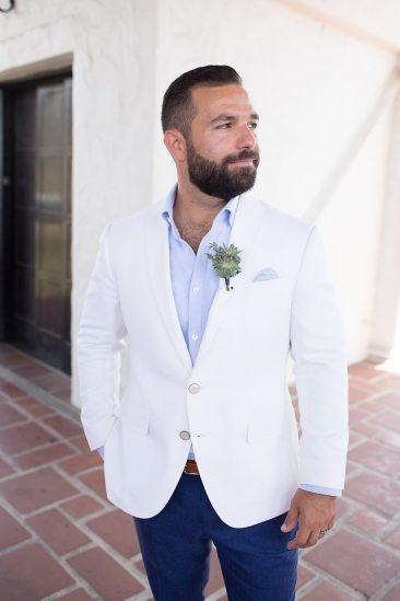 Santa Barbara Courthouse Wedding Groom