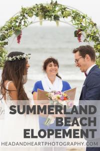 Summerland Beach Elopement
