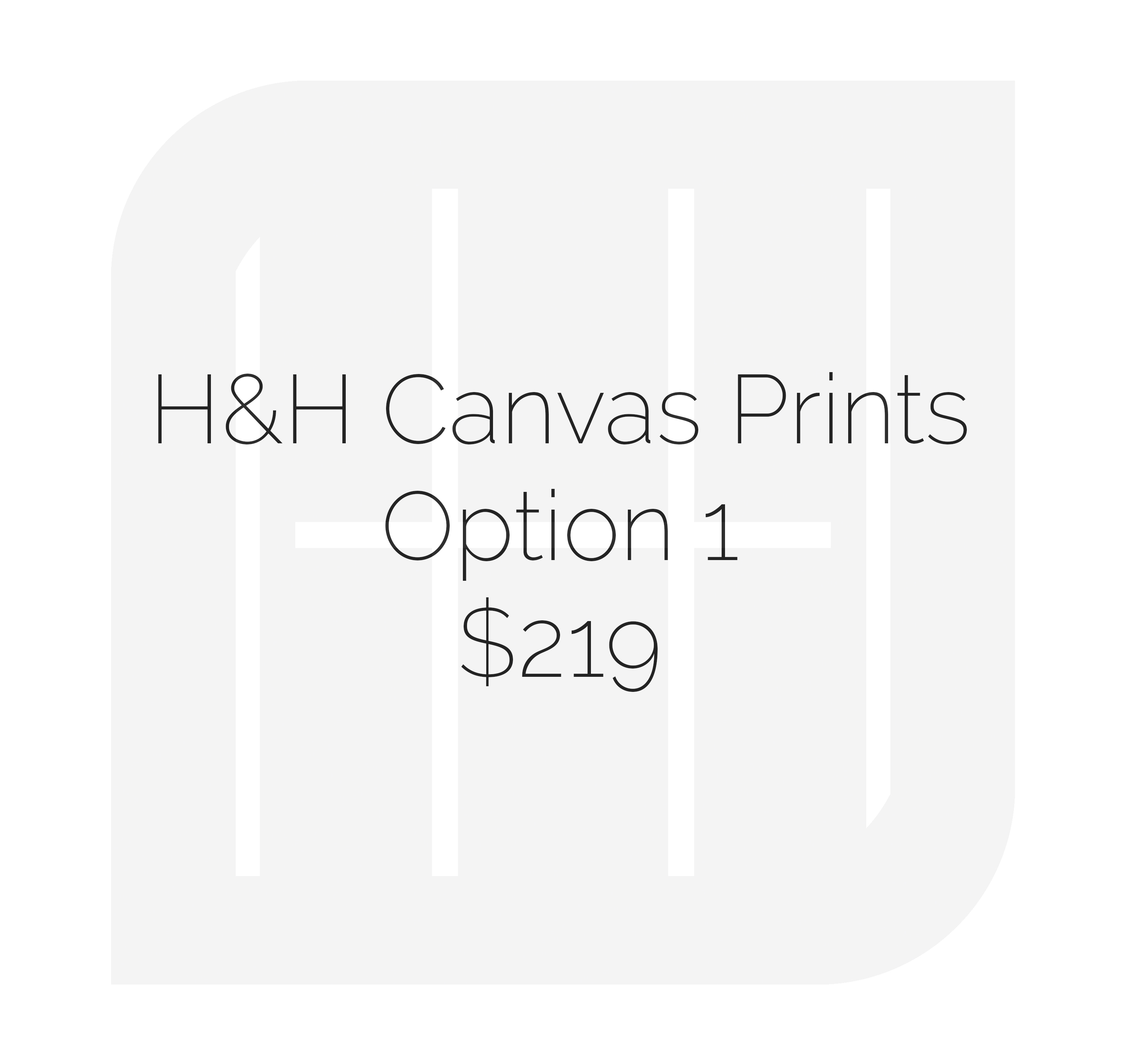• (2) 12x18 Gallery Wrap Canvas Prints